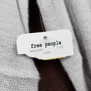 Free People Tops - FREE PEOPLE Grey Long Sleeve Scoop Neck Top S